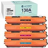 MYTONER Compatible Toner Cartridge Replacement for HP 130A CF350A CF351A CF352A CF353A for Color Laserjet Pro MFP M176n M177f