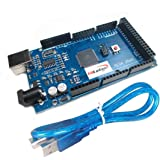 HiLetgo® ATmega2560-16AU CH340G MEGA 2560 R3ボード USBケーブル付属 Ar…