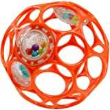 Bright Starts Oball Rattle Easy Grasp Toy, Ages Newborn +, Red, 4 Inch