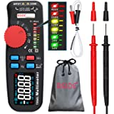 Bside Upgraded Multimeter Digital Voltage Tester Color LCD True RMS 6000 Counts Auto-Ranging Volt Amp Ohm Hz Cap Temp Diode C