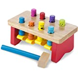 Melissa & Doug 4490 Deluxe Pounding Bench Wooden Toy With Mallet