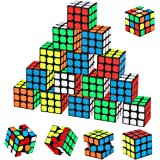 Mini Cube Puzzle Party Toys 20 Pack, Libay Magic Cube for Kids Party Favors School Supplies Classroom Rewards and Puzzle Game