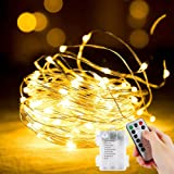 Fairy Lights, 2 Pack 12M 120 LED Battery Operated String Lights, Copper Wire Indoor Outdoor String Light for Girls Boys Bedro