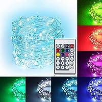 10M LEDイルミネーションライト 2020年最新版 ウォームホワイト 16色ジュエリーライト 100球 高輝度 大き…