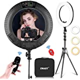 Emart 18 inch LED Ring Light with Tripod Stand, 65W Adjustable Color Temperature 3200 k to 5500 k Makeup Ringlights with Phon
