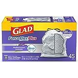 Glad ForceFlex OdorShield Tall Kitchen Drawstring Trash Bags (Febreze Lavender Breeze), 13 gallon, 45ct