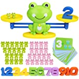 SPLAKS 82 Pack Balance Math Game Early Learning Education Toys Frog Balance Scale Mathematical Digital Addition Teaching Tool