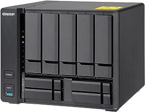 QNAP(キューナップ) TS-932X 、デュアル10GbEポート付き3.5インチおよび2.5インチドライブ 9ベイ  NASサーバー。