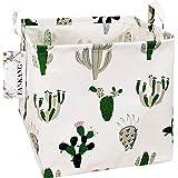 FANKANG Storage Bins Nursery Hamper Canvas Laundry Basket Foldable with Waterproof PE Coating Large Storage Baskets Gift Bask