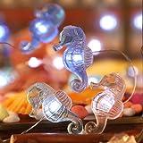 Impress Life Seahorse Beach Decorative String Lights, Under the Sea Nautical Ocean Theme Twinkle Lights Battery&USB Plug In O