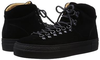 Suede Mid Cut Sneaker 1331-343-6896: Black