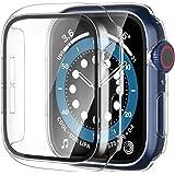 【2枚】Yoarmyt watch ケース 40mm 44mm強化ガラス画面カバー PC series6/SE/5/4対応 クリア