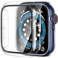【2枚】Yoarmyt watch ケース 40mm 44mm 強化ガラス画面カバー PC series6/SE/5/4…