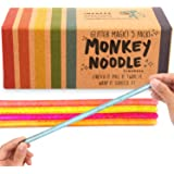 IMPRESA 5-Pack Glitter Monkey Noodle Stretchy String Fidget / Sensory Toys (BPA/Phthalate/Latex-Free) - Stretches from 10 Inc