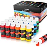 Acrylic Paint Set, Caliart 24 x59ml Tubes Artist Quality Non Toxic Rich Pigments Colors Great for Kids Adults Professional Pa