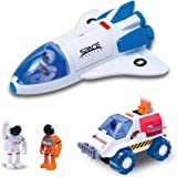 Astro Venture Space Playset - Toy Space Shuttle & Space Rover with Lights and Sound & 2 Astronaut Figurine Toys for Boys and