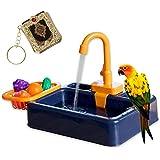 Rose dream parrot bath bird bath bird food bird feeder pet pool automatic bird bath with faucet food container pet parrot bir
