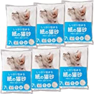 [Amazon限定ブランド] SmartBasic アイリスオーヤマ 紙の猫砂 7L×6袋