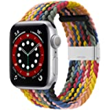 Bagoplus Compatible with Apple Watch iWatch Bands 38mm 40mm 42mm 44mm Women Men, Adjustable Braided Solo Loop Stretchable Ela
