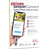 Picture Keeper Connect 64GB Portable Flash Drive iPhone Android Photo Backup USB Device