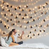 Photo Clip String Light - 33Ft 100LED Fairy Lights with Clips for Pictures, Photo Lights with 50 Clear Clips for Dorm Bedroom