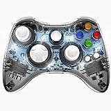 Wireless Xbox 360 Controller Double Motor Vibration Wireless Gamepad Gaming Joypad, Black - PAWHITS