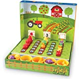 Learning Resources LER5553 Veggie Farm Sorting Set (46 Piece),46Piece,Multicolor