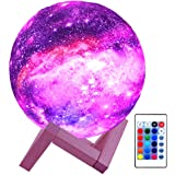 HYODREAM 3D Printing Moon Lamp Moon Light Kids Night Light 16 Color Change Touch and Remote Control Star Light As a Gift Idea