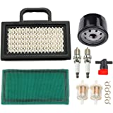 Dxent 499476S 698754 Air Filter for Briggs and Stratton 18-26 HP Intek V-Twins 492932S 696854 Oil Filter Poulan Craftsman Tor