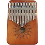 Kalimba 17 Keys Thumb Piano, Portable Finger Piano Solid Mahogany Wood Finger Percussion Keyboard African Wood Musical Instru