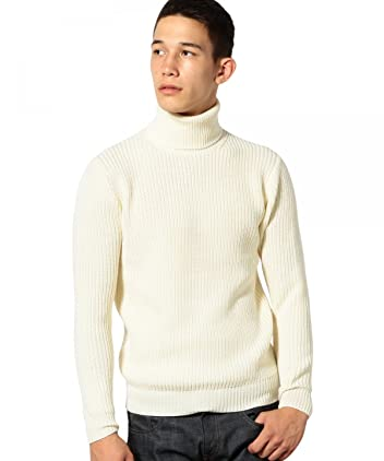 Mercerized Wool Rib Turtleneck Sweater 3213-199-0329: White