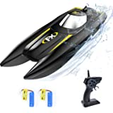 VOLANTEXRC RC Boat for Pool and Lake, High Speed Remote Control Boat for Kids with Water Sensing, Improved Waterproof Design