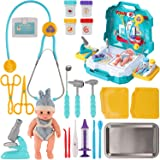 Liberty Imports Doctor Kits with Real Working Stethoscope | Stainless Steel Toy Medical Tools Set for Kids Imagination Preten