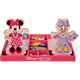 Melissa & Doug Disney Minnie Mouse and Daisy Duck Magnetic Dress-Up Wooden Doll Pretend Play Set (45+ pcs)
