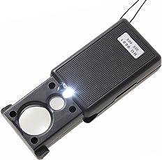 Phoenix 携帯ルーペ 30倍 60倍 超軽量! 高倍率レンズ LEDライト ブラックライト付き コンパクトサイズ ストラップ付き 精密作業 ジュエリー鑑定 校正 校閲用 プレゼントに