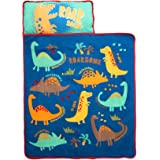 Funhouse Dinosaurs Kids Nap Mat Set – Includes Pillow and Fleece Blanket - Great for Girls Napping During Daycare, Preschool,