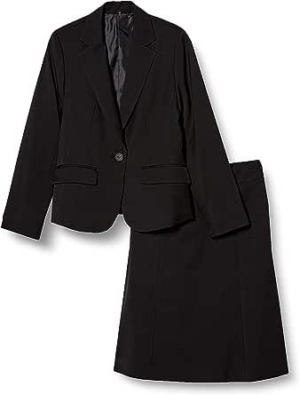 [セシール] スーツスカートセット テーラードジャケット+マーメイドスカート 2点セット オフィススーツスカートセット 洗濯機OK レディース AU-483
