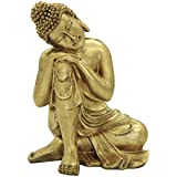 10.63(H) Napping Indian Buddha Statue Gold Resin Home Decor Housewarming Gift BS107
