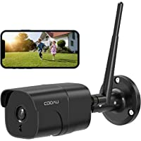 COOAU 防犯カメラ 屋外1080P 200万画素 ネットワークカメラ IPカメラ 動体検知 遠隔監視 暗視撮影 スマ…