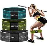 BERTER エクササイズバンド トレーニングチューブ ゴムバンド トレーニング 高弾力 筋トレ 太もも 男女兼用 天然ラテックス製 収納袋付き