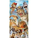 Dawhud Direct Dinosaurs Selfie Cotton Beach Towel