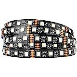 BTF-LIGHTING 5050 RGBW RGB+Warm White (2700K-3000K) 4 Colors in 1 LED 16.4ft 60LEDs/m Multi-Colored LED Tape Lights IP30 Non-