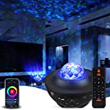 Galaxy Projector Star Projector Work with Alexa Google Home Galaxy Cove Projector with Bluetooth Music Speaker, Night Light P