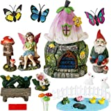 BangBangDa Garden Fairy Garden Decor Accessories - Miniature Flower Gnome Garden Kit Gnome Figurines Statue Set for Outdoor F