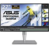 ASUS ProArt PA27AC 27-inch WQHD HDR Professional Monitor, HDR-10, 100% of sRGB, color accuracy ΔE < 2, Thunderbolt™ 3, Hardwa