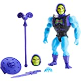 Masters of the Universe Origins Deluxe Skeletor Action Figure, 5.5-in Battle Character for Storytelling Play and Display, Gif