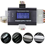 Optimal Shop 20/24 4/6/8 PIN 1.8 LCD Computer PC Power Supply Tester for SATAIDEHDDATXITXBYI Connectors