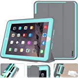 iPad 5th Generation Case New iPad 9.7 inch 2017 Case Smart Magnetic Auto Sleep/Wake Cover Hybrid Leather with Stand Feature f