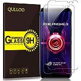 【2枚】QULLOO ASUS ROG Phone 3 5G ガラスフィルム ZS661KS 強化ガラス 日本旭硝子素材 全面保護 硬度9H 飛散防止 指紋防止 自動吸着 気泡防止 飛散防止 ROG Phone3 液晶保護フィルム
