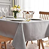 maxmill Square Tablecloth Swirl Design Water Resistance Antiwrinkle Oil Proof Heavy Weight Soft Table Cloth for Buffet Banque
